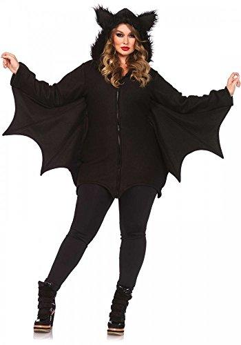 shoperama Plus Size Damen-Kostüm von Leg Avenue Cozy Bat Fledermaus warm flauschig Vampir, Größe:XL/XXL