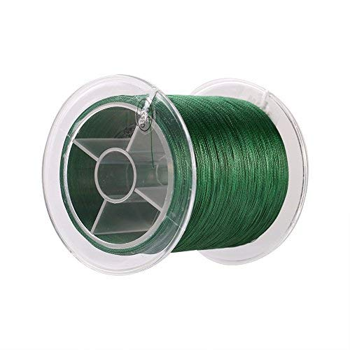 Alomejor, 1 lenza da pesca a 4 fili intrecciati, super resistente, filo multifilamento, 9 misure, verde (1-verde)