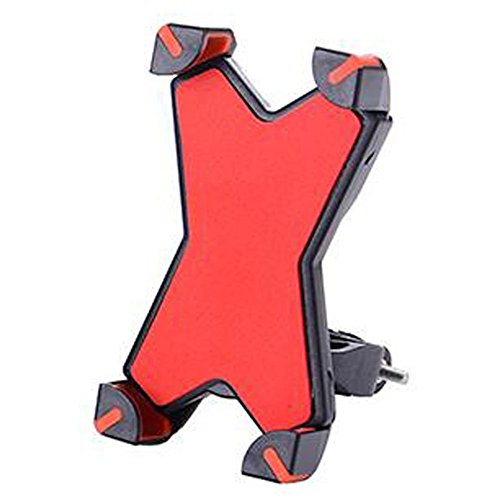 JT Outdoor Riding Aluminium Legering Mode 3.5-7.0 Inch ABS Duurzame Fiets X Mobiele Telefoon Stand, rood, alle