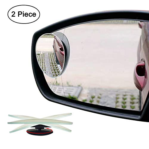 Ampper Oval Blind Spot Mirrors, Frameless 360 Degree Rotate + Sway Adjustabe HD Glass Convex Wide...