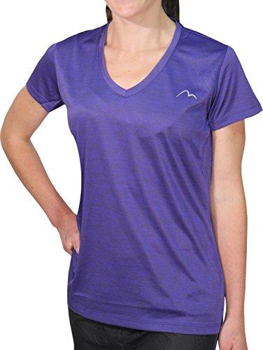 More Mile M-Tech Dry T-Shirt de Course à Manches Courtes pour Fille Violet 15-16 Ans