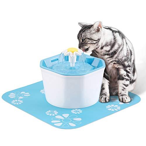 La fontaine à eau pour chat silencieuse à fleurs D-SYANA8 1,6 L