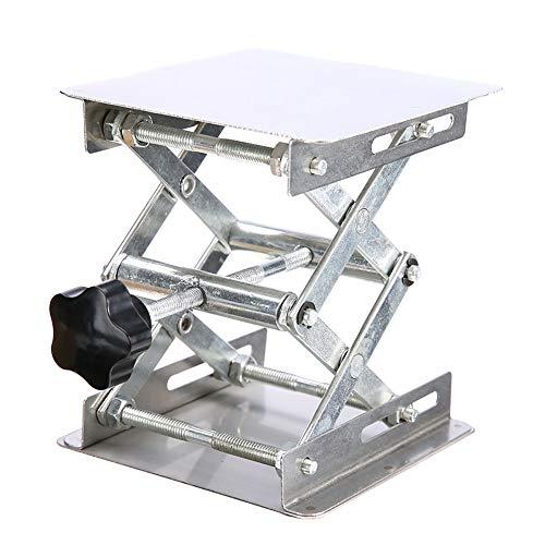 Plataforma Elevadora de Laboratorio de Acero Inoxidable Plataforma Elevadora de Pie Soporte de Tijera Ajuste de Altura Del Instrumento, 45 * 150mm