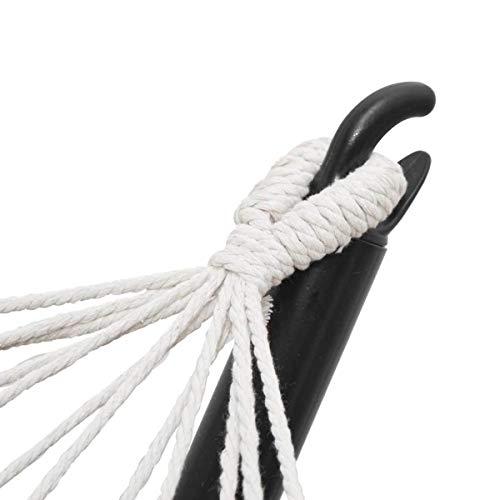AMANKA Doppel Hängematte mit Gestell – 300×100 Garten Hängeliege – Outdoor Hängemattengestell Metall - 6