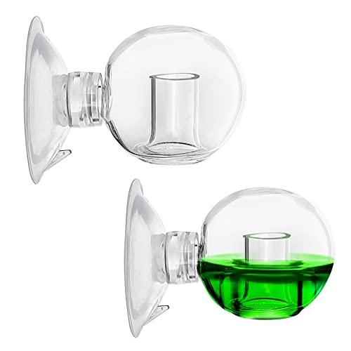 2 Piezas Comprobador de CO2 CO2 Gota de Vidrio Comprobador, CO2 Test, Monitor de Dióxido de Carbono, para acuarios de Agua Dulce