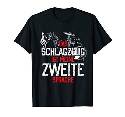 Drummer Geschenk Schlagzeuger Zitat Percussion Schlagzeug T-Shirt