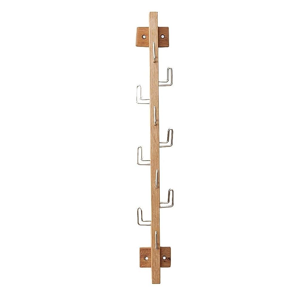 合法静的誇りに思う壁掛け木製ベッドルームコートラックリビングルームホワイエハンギング服ラッククリエイティブシンプルモダンで10フック