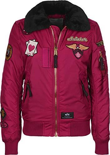 Alpha Industries Injector III Custom Damen Jacke Dunkles Pink L