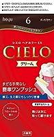 ホーユー シエロ ヘアカラーEX クリーム 6 (ダークブラウン)×6個