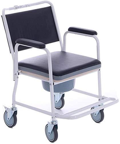 HMMN Silla de Inodoro de 4 en 1 Rueda, con la Rueda de Freno se Puede bañarse, Utilizada para Mujeres Embarazadas con discapacidades ancianas