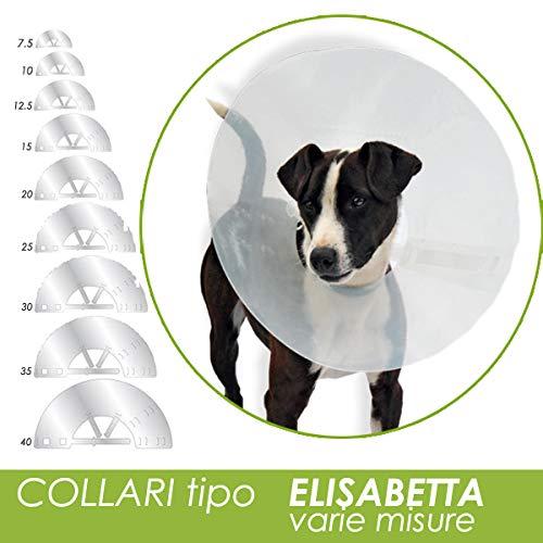 Collare Elisabetta Trasparente per cani e gatti (10 cm)