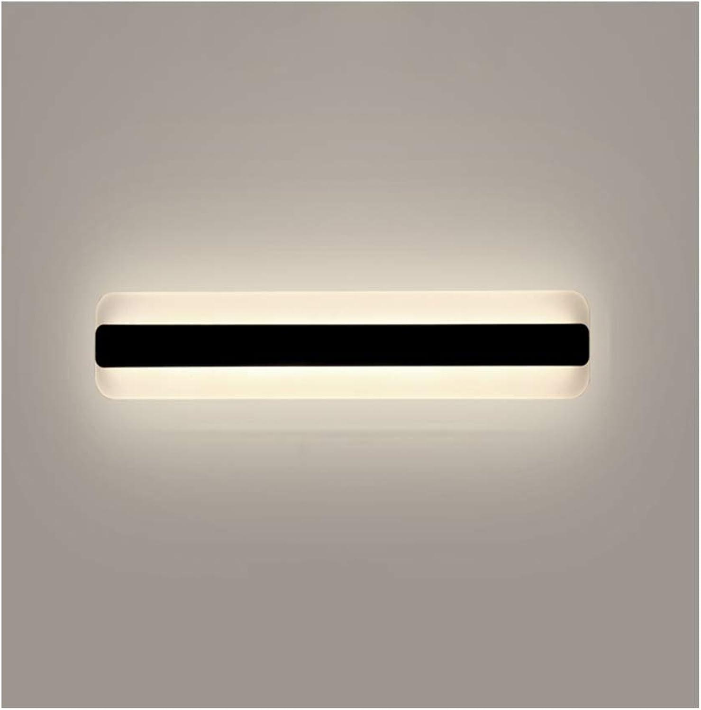 &Badezimmerbeleuchtung Spiegel Frontleuchte Moderne minimalistische LED Acryl Schlafzimmer Badezimmer Wandleuchte Licht (Farbe   Warmes Licht-14W 40CM)