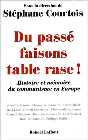Du passé faisons table rase ! Histoire et mémoire du communisme en Europe