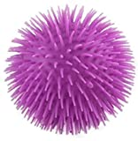 Curious Minds Busy Bags Solid Color Jumbo 9' Puffer Ball - Sensory Fidget and Stress Balls - OT Autism SPD (Solid Purple)