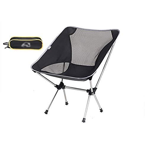 WEI-LUONG Nos Produits sont vendus dan Kreative Klappstuhl Moon Chair Silber beweglichen Hauptmultifunktions-Freizeit-Stuhl Outdoor Angeln Stuhl Camping Stuhl