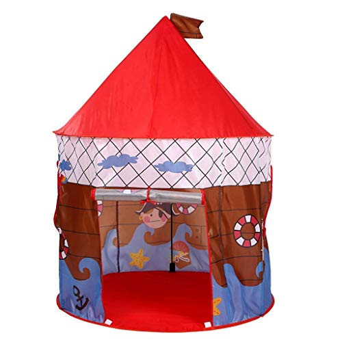 YXYOL Kinder-Spiel-Zelt, Piraten-Schiffs-Muster, Indoor Outdoor Kinderspielland, tragbare Pop Up Jungen/Mädchen Spielzeug-Haus Macht, Kinder-Geburtstags-Geschenk