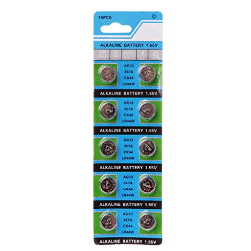 ZOUCY 10 Stücke Alkaline Batterie AG13 1,5 V LR43 386 Knopfzelle Uhr Spielzeug Batterien Fernbedienung SR43 186 SR1142 LR1142