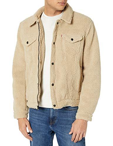 Levi's Men's Sherpa Trucker Jacket, Beige, Large