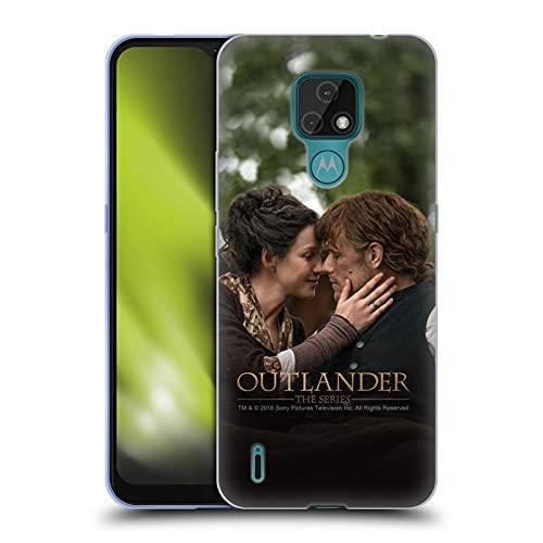 Head Case Designs Licenza Ufficiale Outlander Claire Jamie Bacio Stagione 4 Arte Cover in Morbido Gel Compatibile con Motorola Moto E7