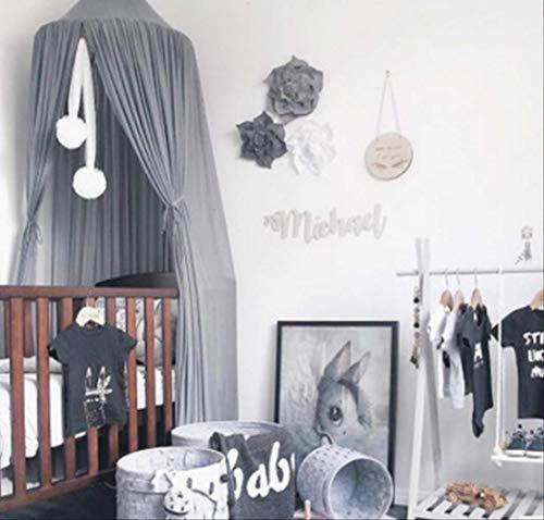 Mosquitera para cama princesa bebé niños gasa palacio cama cubierta mosquitera cortina cama cama cúpula carpas cama cenefa 240x260cm ver abajo para descripciones de tallas gris
