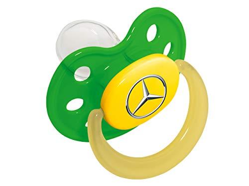 Mercedes-Benz Collection Grüner Schnuller | Beruhigungssauger aus Kunststoff & Silikon | Kleinkindschnuller Saugergröße 1