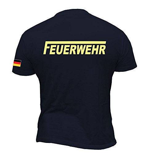 Rescue Point Feuerwehr Herren Kurzarm T-Shirt KF10DE (L)