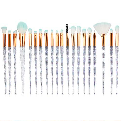 Pinceau De Maquillage 20 Pcs Ensemble De Maquillage De Laine Brosse En Nylon Beginner Maquilleur Professionnel Visage Modification Outil