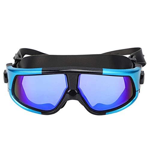 MHSHKS Máscaras De Buceo Máscara De Esnórquel Máscara De Snorkel Gafas De Natación Gafas De Natación Antivaho Silicona Impermeable Gafas Gafas Deportes Acuáticos para Adultos (Color : Blue)