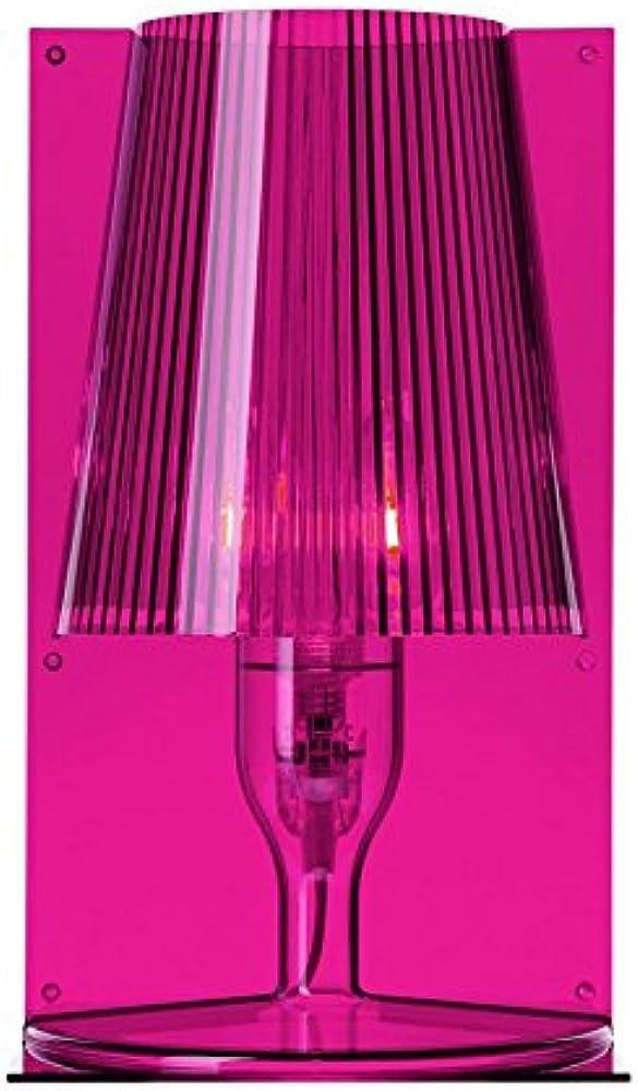 Kartell take, lampada da tavolo, rosa 09050RO