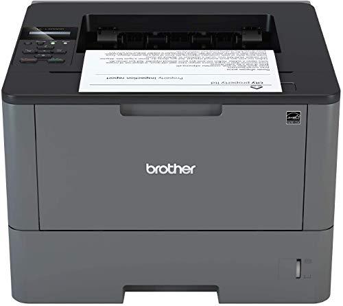 Brother HLL5000D Stampante Laser Bianco e Nero, Velocità di Stampa 40 ppm, Stampa Fronte / Retro Automatica, Interfaccia USB (No Rete Cablata, No Wifi)