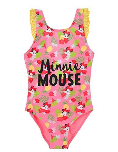 Maillot de Bain 1 pièce Enfant Fille Minnie Disney Rose/Jaune de 3 à 8ans - Rose/Jaune, 8 Ans