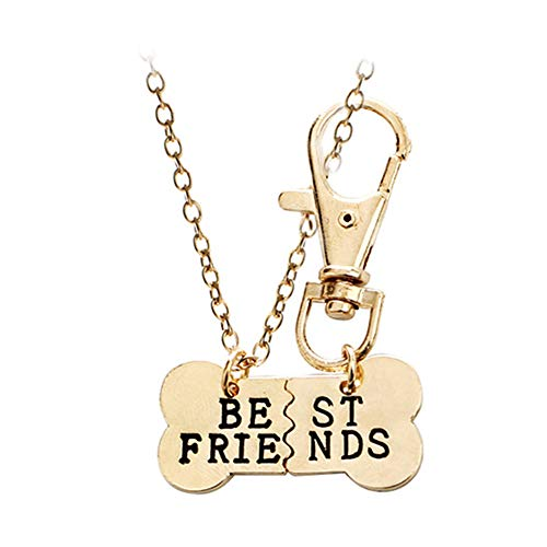 YuoungYuan Collar Mujer Collar de Simple Collar Collar romántico Collar para el cumpleaños Collar de la joyería Creativo Collar Collar de Amistad para 2 Gold