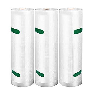 "VSADEY Vacuum Sealer Bags Rolls 3 Pack 8""x2..."
