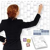 Calendario da parete 2022 DIN A1+ (89x63 cm) OFFICE   PIEGATO   230 adesivi:...