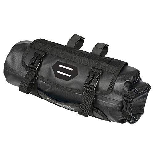 7L Impermeable Bolso de la Bicicleta, Capacidad Ajustable Bici del Manillar Pannier Bolsa, Dry Pack Desmontable (Color : Black)