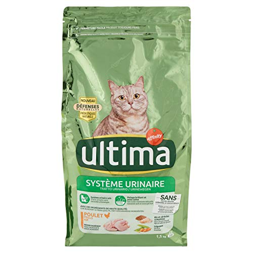 Ultima Croquettes pour Chat Protection Système Urinaire Poulet et Riz, 1,5kg