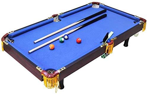 LINANNAN Combinación de Juegos de Mesa creativos de Mesa Mesa de Billar Juego de Billar Niños Deportes - Deportes temático (Color, Azul, Tamaño, 92x50x20cm),Azul,92x50x20cm
