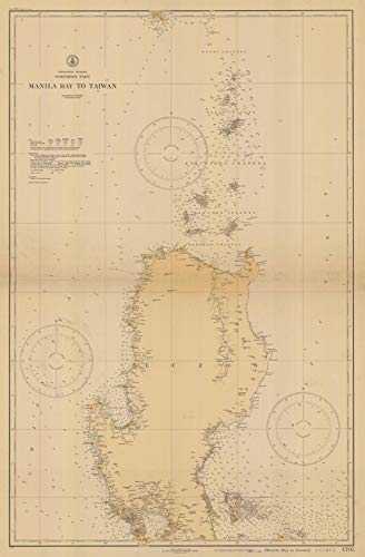 Vintography Reprinted 8 x 12 Nautical Map of Manila Bay to Taiwan Northern Part 0 US Coast & Geodetic Survey 16a