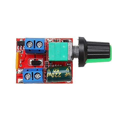 SHANG-JUN Fácil de Montar Mini DC Motor PWM Speed Controller Module Regulador de Velocidad Modulador de luz Ajustable Interruptor electrónico Tablero de módulo DC 3V a DC 35V 5A 90W Conveniente