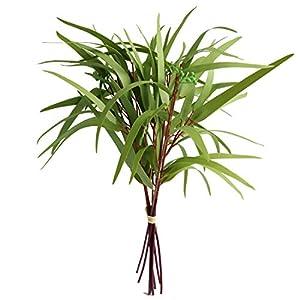 Artificial Seeded Eucalyptus Leaves Spray Faux Greenery Picks Wedding Home Decor Flower Arrangement Bouquet Filler (D)