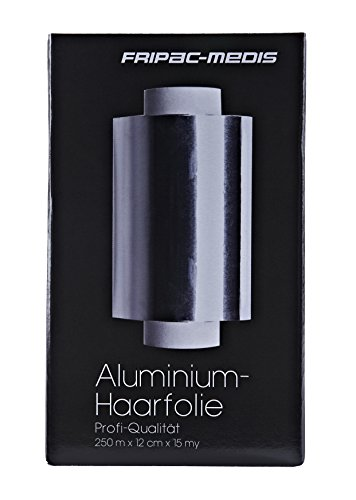 Fripac-Medis Aluminium-Haarfolie Rolle 250 m x 12 cm 15 m, silber