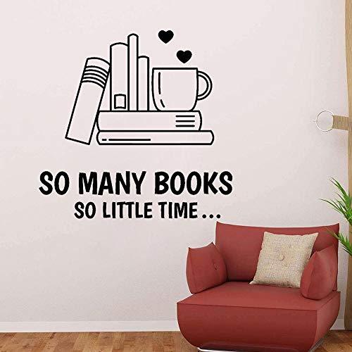 wukongsun Lectura Letras de Vinilo calcomanías de Pared Libros Amor niños Sala de Lectura Esquina Pegatinas Mural Dormitorio decoración de la Pared Negro 43X42 CM