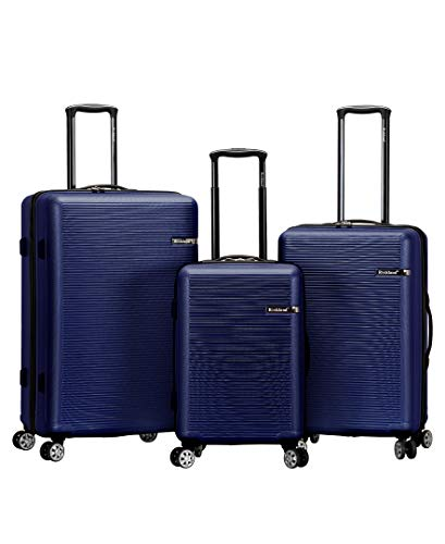 Rockland F240-BLUE Skyline Collection - Maleta de 3 Piezas con Ruedas giratorias duales, Color Azul
