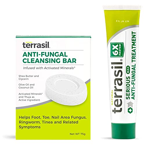 Terrasil Anti-fungal Treatment Kit - 6X Faster Healing, Natural Soothing Clotrimazole Ointment for Fungal Skin Infections (Antifungal Cream Max 14gm Tube + Antifungal Soap 75gm Bar)