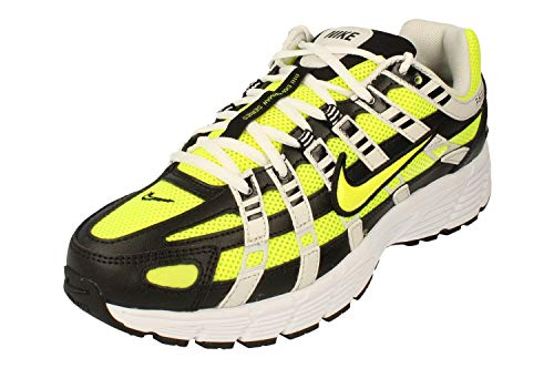 Nike P-6000, Running Shoe Hombre, Negro/Veneno Limón/Platino Tinte/Blanco, 42.5 EU