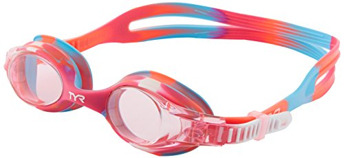 TYR Kids Swimple Tie Dye Goggle, Pink/Pink/White, Small