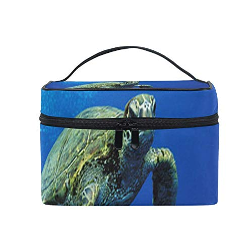 Sac de maquillage Hawaiian Green Sea Turtle Cosmetic Bag Portable Large Toiletry Bag for Women/Girls Travel