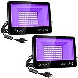 Onforu 2 Pack 30W LED Black Lights, Blacklight...