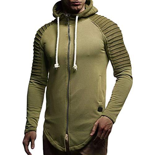 Tookang - Chaqueta con capucha para hombre, diseño de rayas