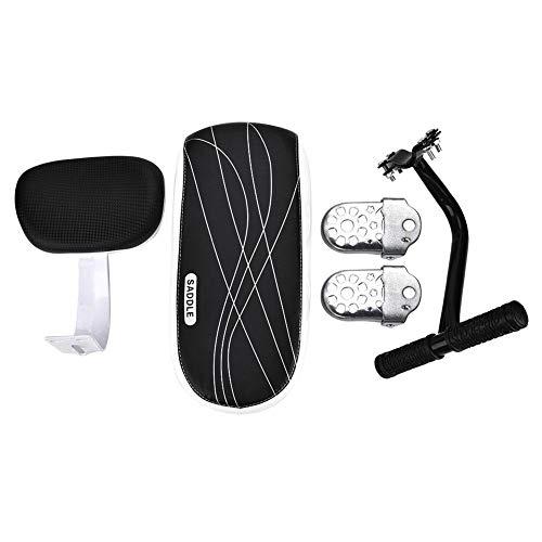 AYNEFY Cojín para asiento de bicicleta, sillín de bicicleta de montaña con luz trasera, respaldo y reposabrazos